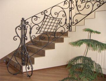ограждения лестниц кованые